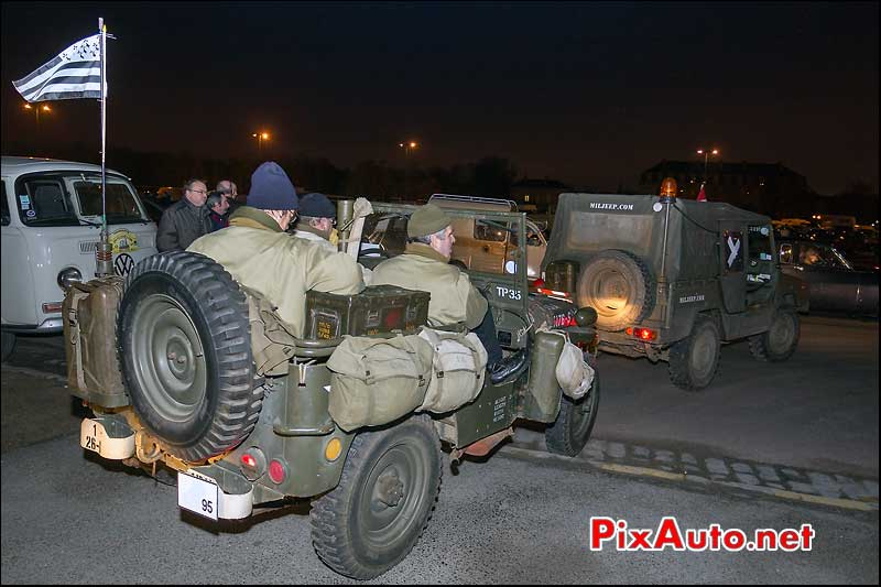 jeep willys, traversee de paris 2013
