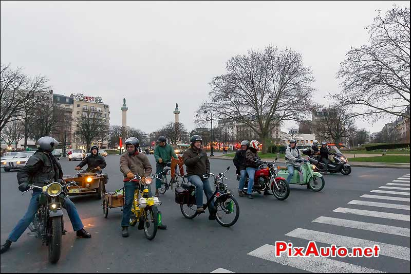 solex place de la nation, traversee de paris