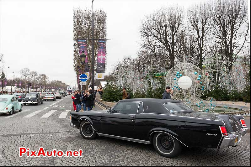 lincoln continental, champs-elysees, traversee de paris 2013