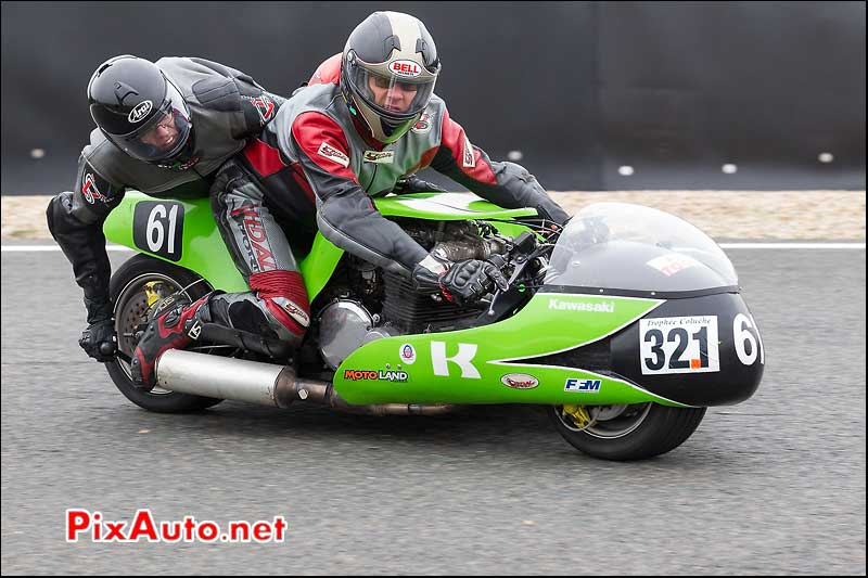 side-car n321, 16e trophee coluche circuit carole golf