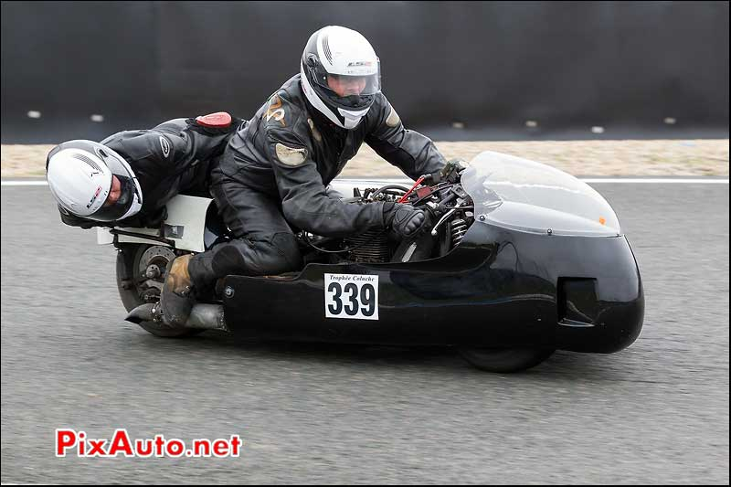 side-car n339, 16e trophee coluche circuit carole golf