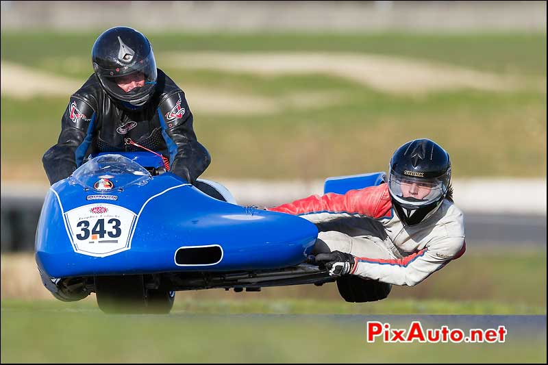 side-car n343, 16e trophee coluche circuit carole