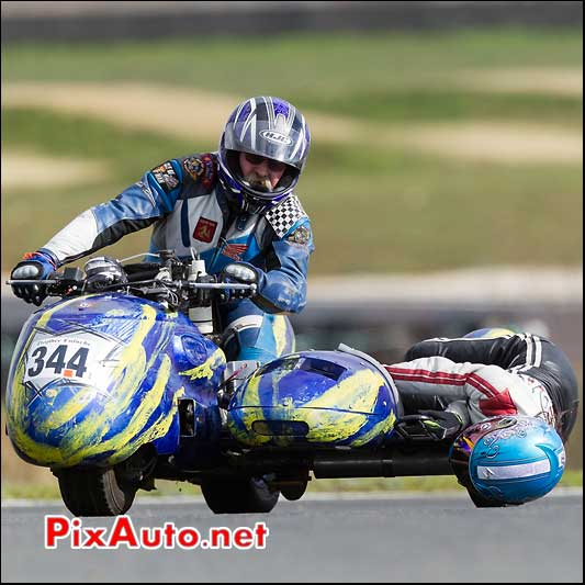 side-car n344, 16e trophee coluche circuit carole