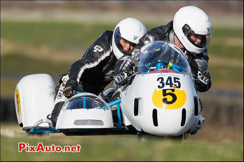 side-car n345, 16e trophee coluche circuit carole