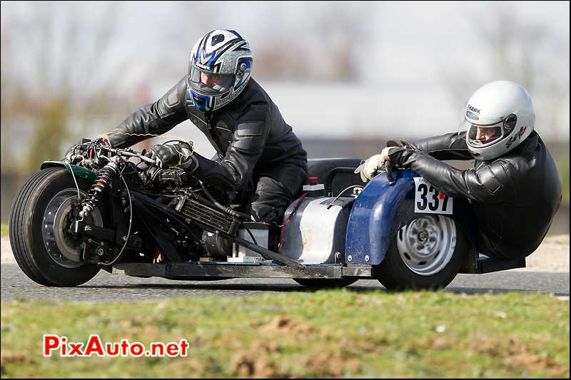 side-car n337, 16e trophee coluche circuit carole
