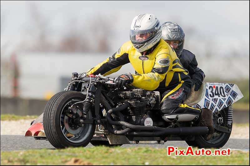 side-car n340, 16e trophee coluche circuit carole