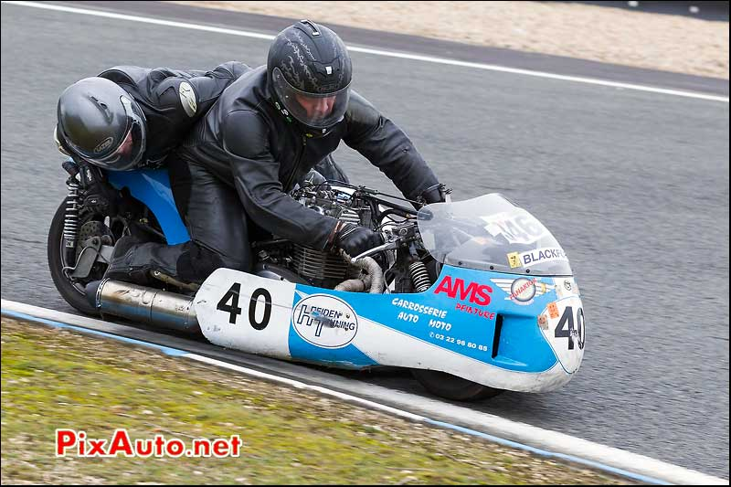 side-car n346, 16e trophee coluche circuit carole golf