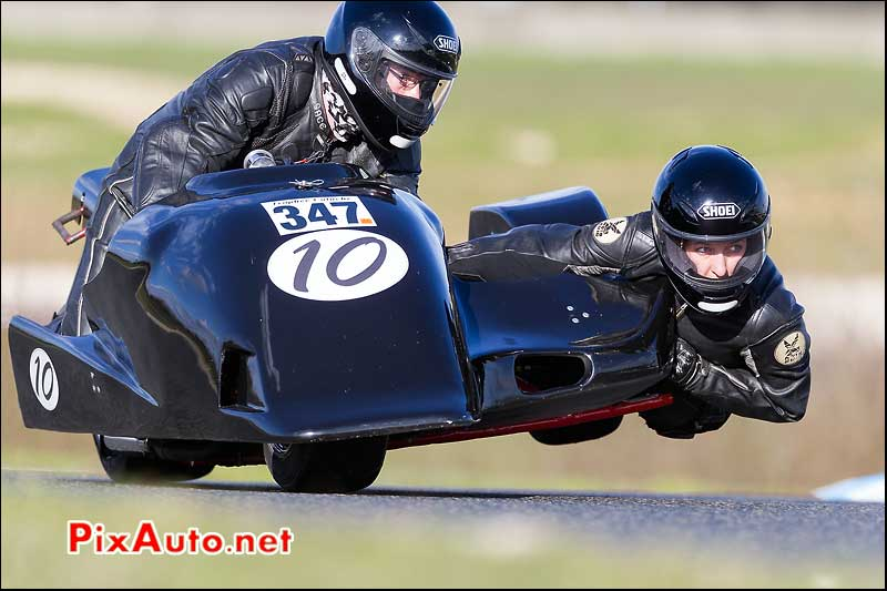 side-car n347, 16e trophee coluche circuit carole