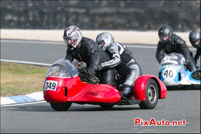 side-car n349, 16e trophee coluche circuit carole