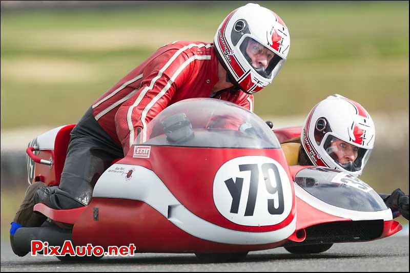 side-car n350, 16e trophee coluche circuit carole