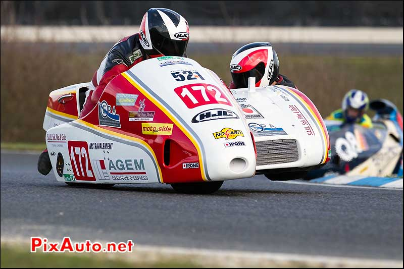 side-car n521, 16e trophee coluche circuit carole