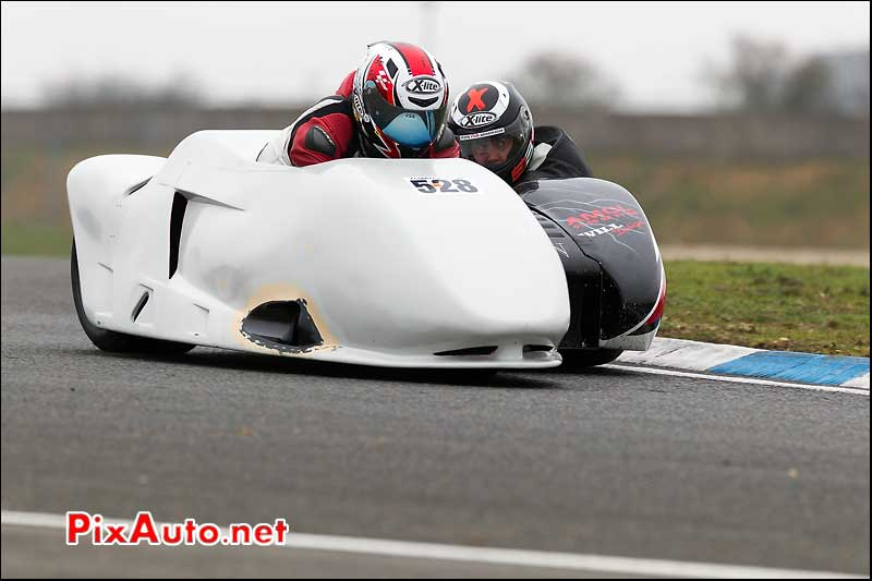 side-car n528, 16e trophee coluche circuit carole
