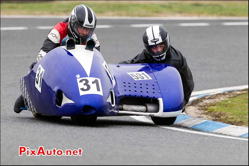 side-car n531, 16e trophee coluche circuit carole