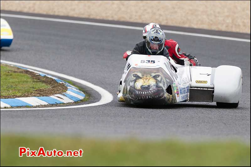 side-car n535, 16e trophee coluche circuit carole