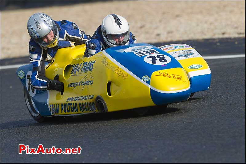 side-car n536, 16e trophee coluche circuit carole