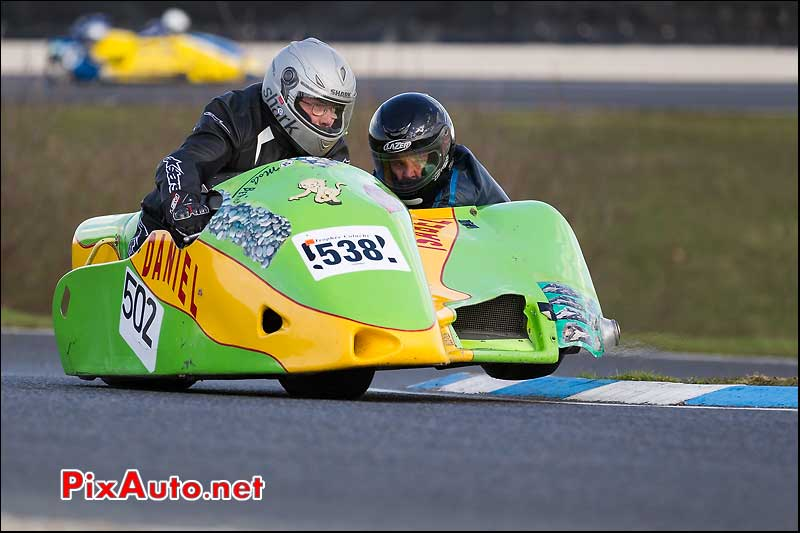 side-car n538, 16e trophee coluche circuit carole