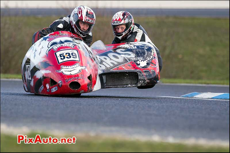 side-car n539, 16e trophee coluche circuit carole