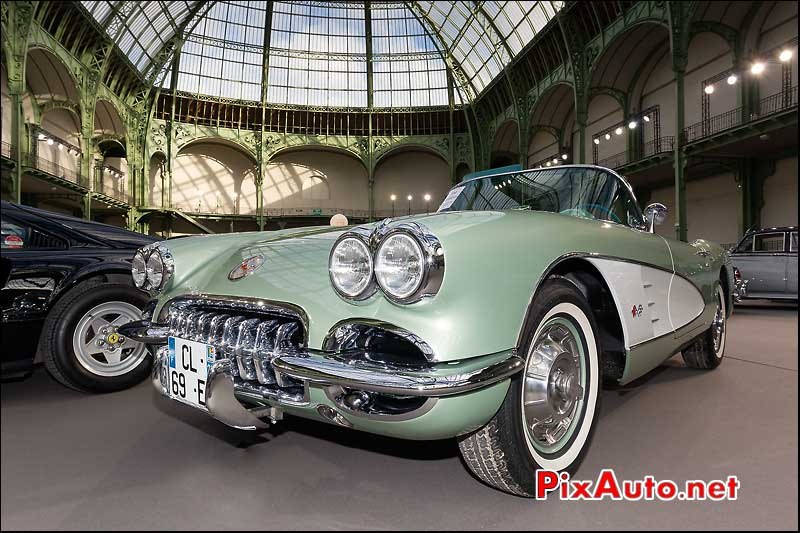 chevrolet corvette roadster, presentation bonhams grand palais