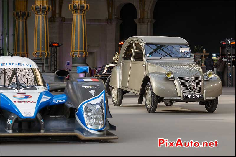citroen 2cv de 1950, presentation bonhams grand palais