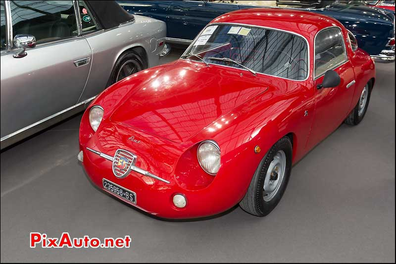 Fiat Abarth 750 zagato, presentation bonhams grand palais