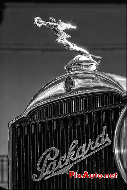 mascotte ange, Packard, presentation Bonhams grand palais
