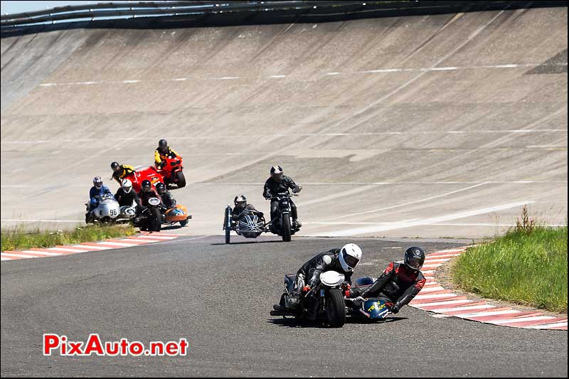 Side Car Chicane Sud, Circuit Linas-Montlhery, Cafe-Racer-Festival