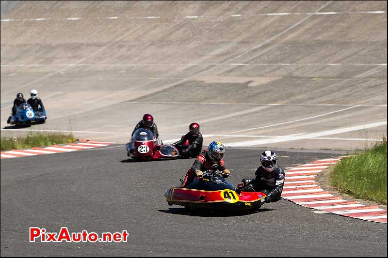 Side Car n41, Chicane Sud, Circuit Linas-Montlhery
