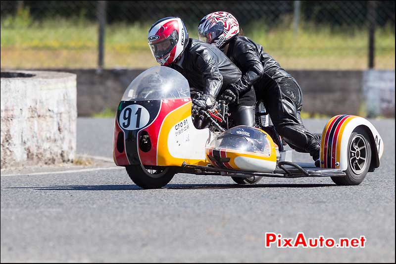 Side Car n91, Circuit Linas-Montlhery, virage des deux ponts