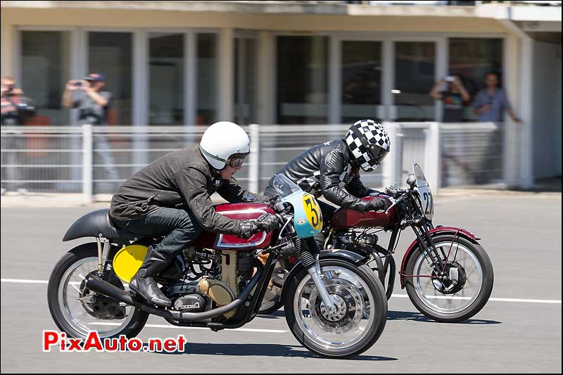 Sprint Matchless G50 et Triumph Speed Twin, Cafe-Racer-Festival 2014