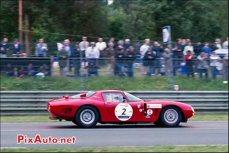 Bizzarrini 5300GT, freinage virage Arnage, Le Mans Classic