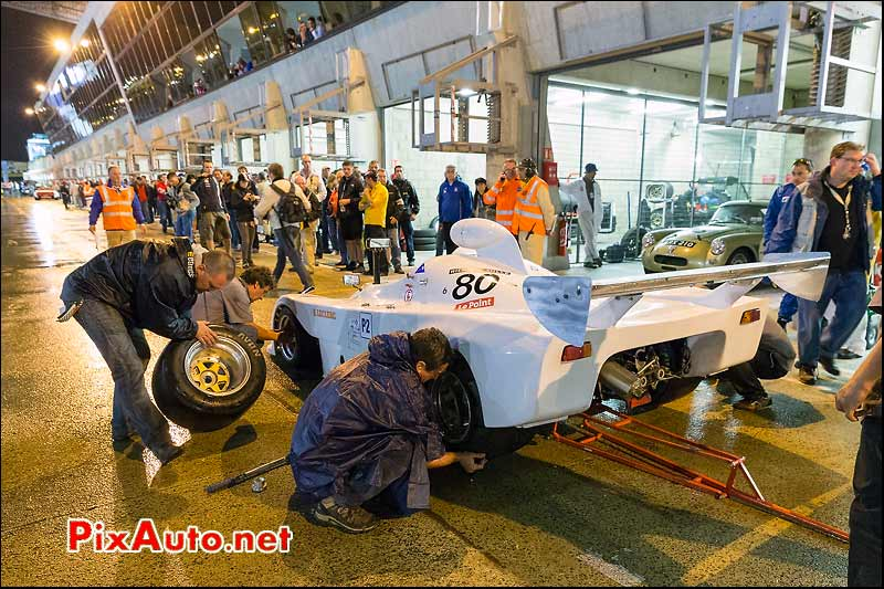 Osella PA6 BMW aux stands Le Mans Classic