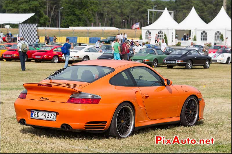 Porsche 911 Turbo Orange, Le Mans Classic 2014