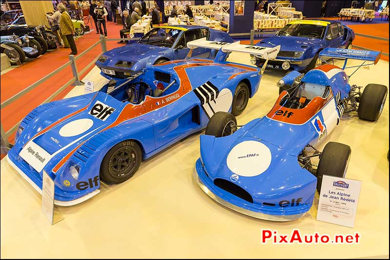 Alpine A441, Alpine A364, Alpine A310, salon retromobile