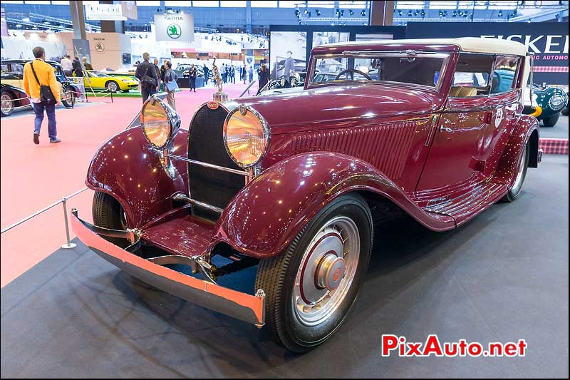 Bugatti type 46S, stand Fiskens, Salon Retromobile 2014