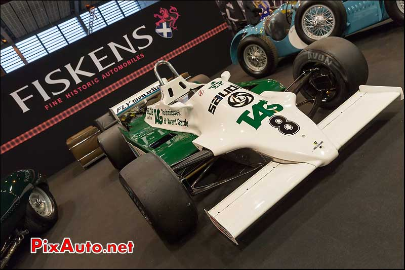 F1 Williams FW07D #16, stand Fiskens, Salon Retromobile