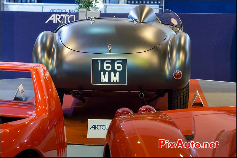 arriere Ferrari 166MM, F40 et Enzo, Arcurial Salon Retromobile