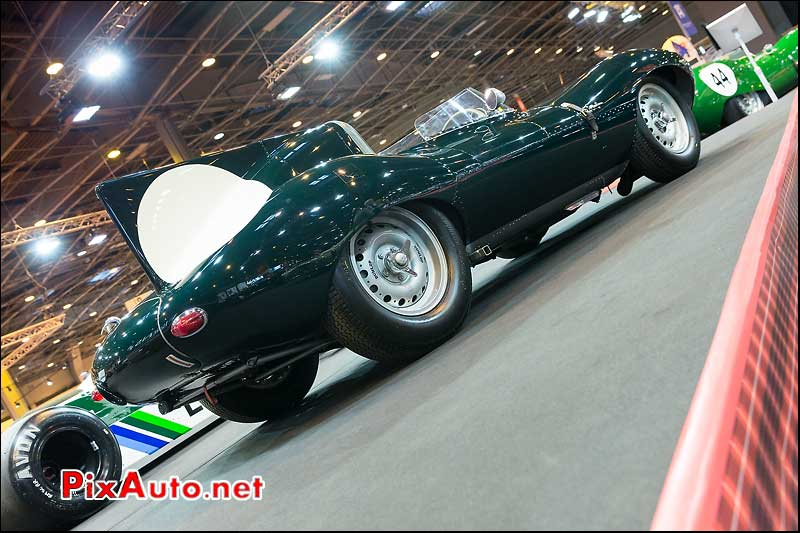 Jaguar D-Type #XD545, stand Fiskens, Salon Retromobile 2014