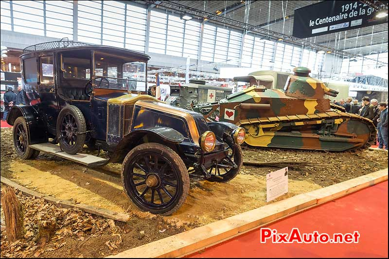 Renault ES-40cv de 1915, salon retromobile 2014