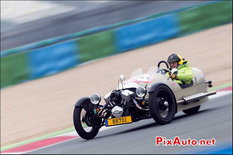 Tricyclecar Morgan Circuit Magny-Cours, Rallye-de-Paris 2014
