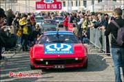 Depart 21e Rallye-de-Paris, Ferrari 308gts Pioneer, fontaines trocadero