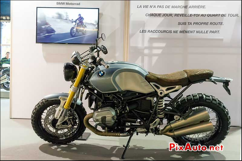 Salon Moto Legende, BMW R-Nine-T Brooklyn Scrambler Rugger