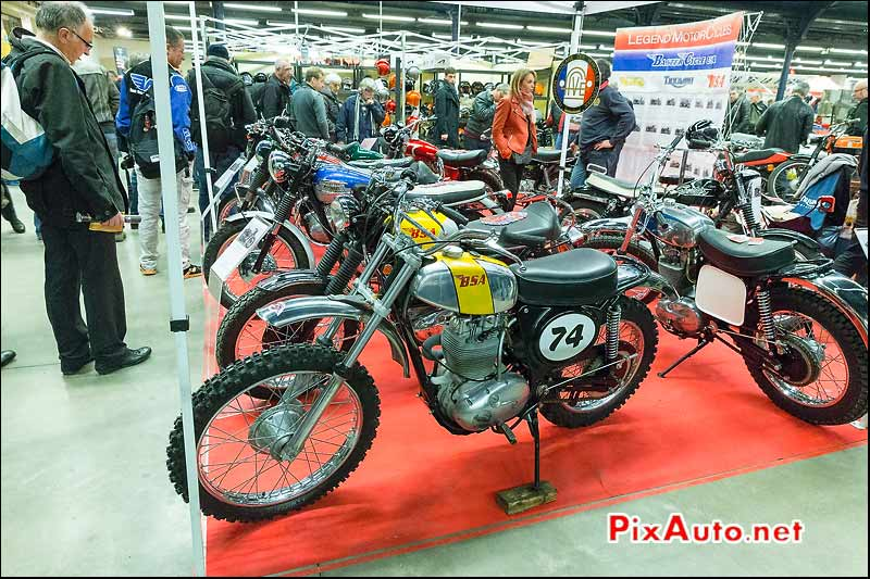 Salon Moto Legende, BSA sur Stand Legend Motorcycles