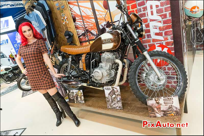Salon Moto Legende, Mash Von Dutch et hotesse