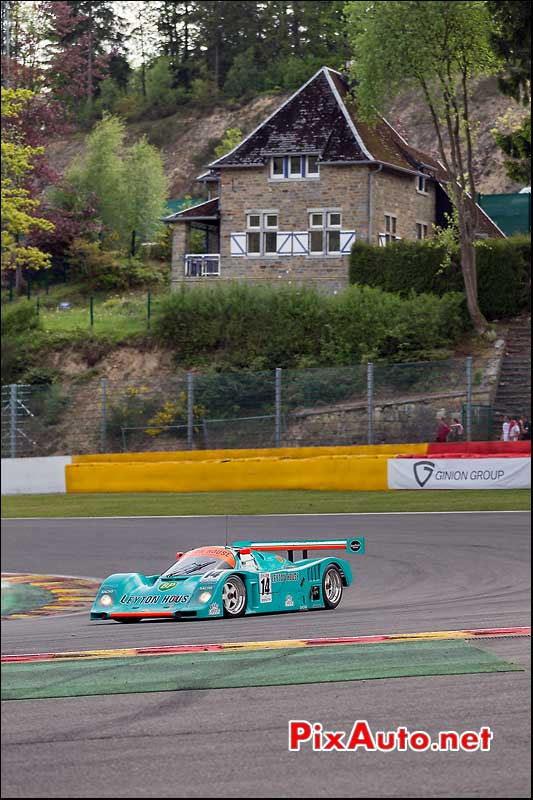 Porsche 962, virage la Source, Group C SPA-Classic