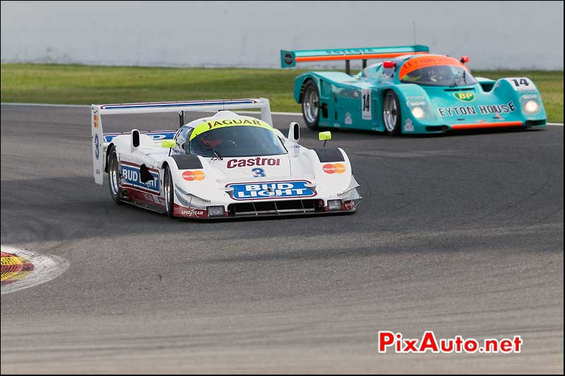 Jaguar XJR16 et Porsche 962, Group C SPA-Classic
