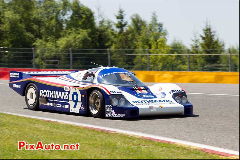 Porsche 956c Rothmans, Group C SPA-Classic, courbe Bruxelles