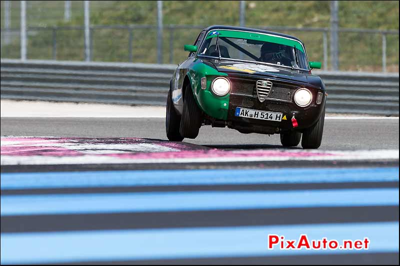 Alfa Romeo 1600 GTA, circuit Paul Ricard, Tour-Auto-Optic-2000