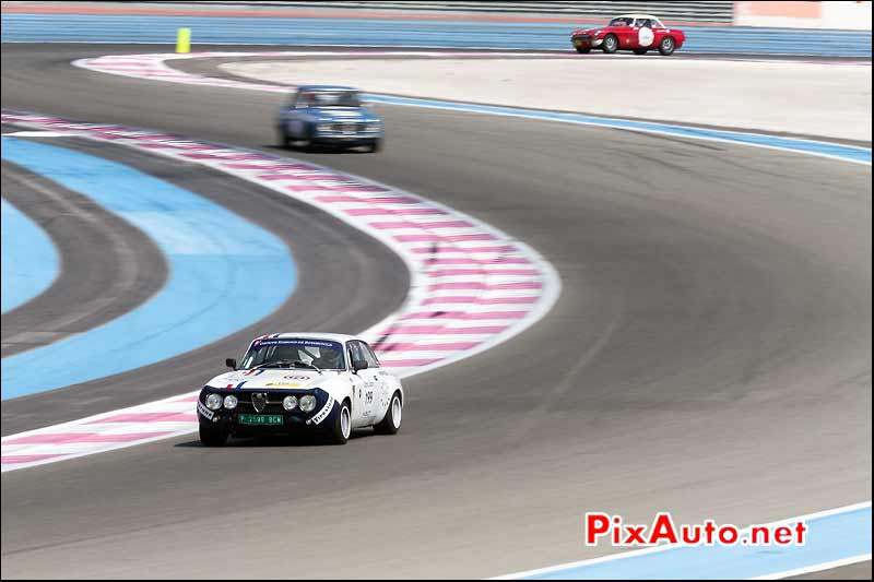 Alfa Romeo 1750 GTAM, circuit Paul Ricard, Tour-Auto-Optic-2000