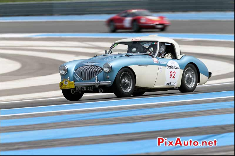 Austin Healey 100M, circuit Paul Ricard, Tour-Auto-Optic-2000