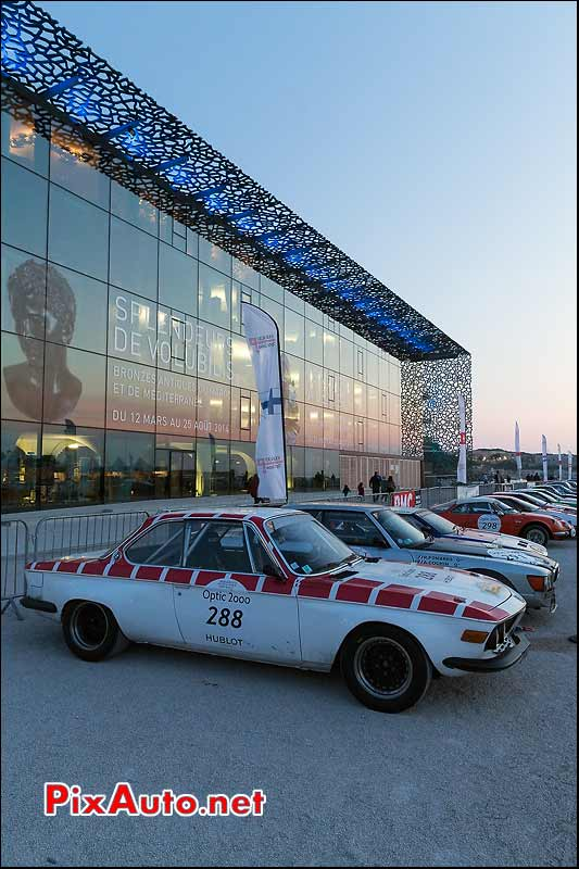 BMW 2800 CS, Mucem Marseille, Tour-Auto-Optic-2000